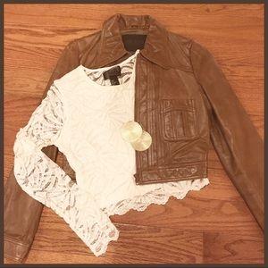 H&M ivory see thru blouse in size medium